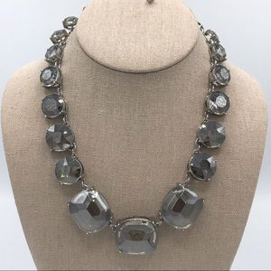WHBM Chunky Faceted Smoky Crystal Necklace